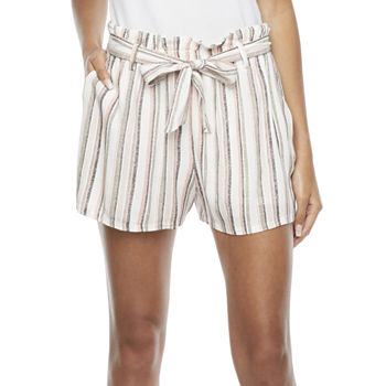 by&by Womens High Rise Soft Short-Juniors