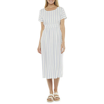 a.n.a Short Sleeve Midi Dress