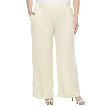 Worthington-Plus Womens Wide Leg Flat Front Pant