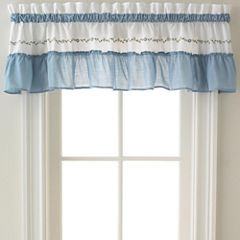 Jayden Two-Tone Rod-Pocket Tailored Valance