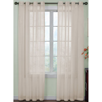 Arm And Hammer™ Curtain Fresh™ Odor-Neutralizing Sheer Grommet-Top Single Curtain Panel