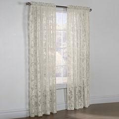 Jacqueline Boucle Sheer Rod-Pocket Curtain Panel