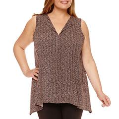 Worthington® Sleeveless Knit Tank Top - Plus