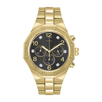 Red Bow Deal 1/10 Ct. T.W. Diamond Mens Chronograph Diamond Accent Gold Tone Bracelet Watch - 3657g-18-G27