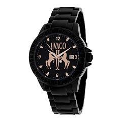 Jivago Womens Folie Black Bracelet Watch
