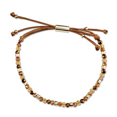 Bridge Jewelry Womens Yellow Silver Over Brass Wrap Bracelet
