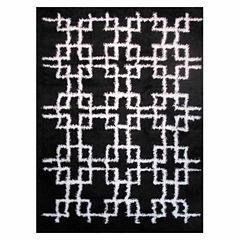 La Rugs Touch Squares Shag Rectangular Runner