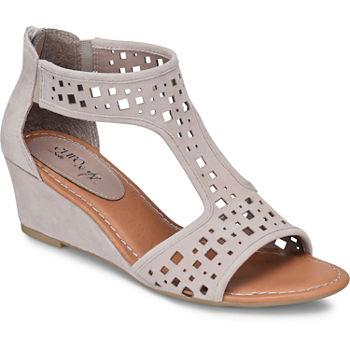 7125940466d Pop Nicole Womens Wedge Sandals · (6). Add To Cart. Mist Grey.  38.25