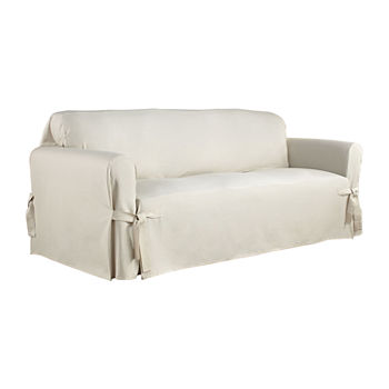 Enjoyable Serta Relaxed Fit Duck Cloth Sofa Slipcover Dailytribune Chair Design For Home Dailytribuneorg