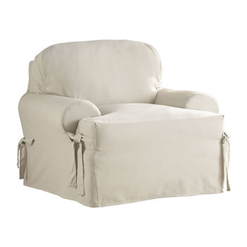 Super Serta Relaxed Fit Duck Cloth Chair Slipcover Pabps2019 Chair Design Images Pabps2019Com