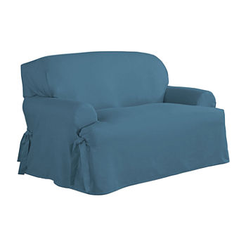Sensational Serta Relaxed Fit Duck Cloth Loveseat Slipcover Unemploymentrelief Wooden Chair Designs For Living Room Unemploymentrelieforg