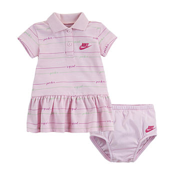 Nike Baby Girls Short Sleeve Striped T-Shirt Dress