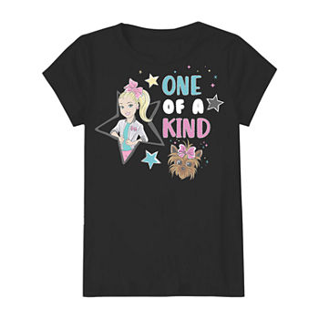 Little & Big Girls Crew Neck JoJo Siwa Short Sleeve Graphic T-Shirt