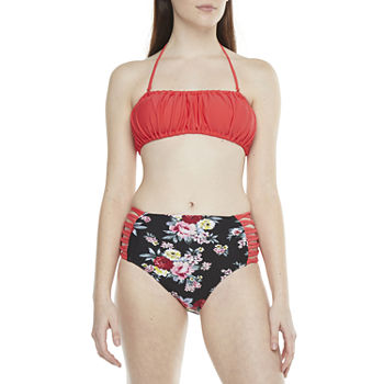 Decree Bandeau and High Waist Floral Bottom
