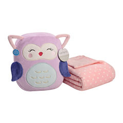 Carter's® On-the-Go Owl Plush Bag with Blanket