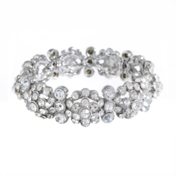 Monet Jewelry Monet Jewelry The Bridal Collection Womens 7 1/2 Inch Link Bracelet s5kg8mN