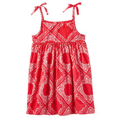 Oshkosh Short Sleeve Babydoll Dress - Toddler Girls