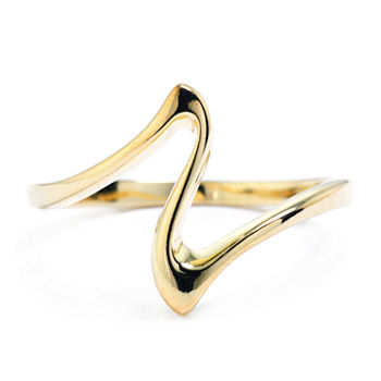 Silver Treasures 14K Gold Over Silver Polished Ring