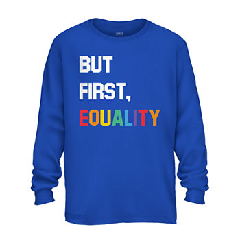 Equality Unisex Adult Crew Neck Long Sleeve Graphic T-Shirt