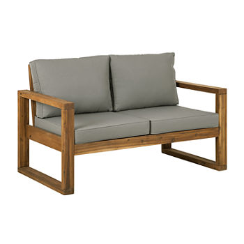 Seville Wood-Frame Patio Loveseat