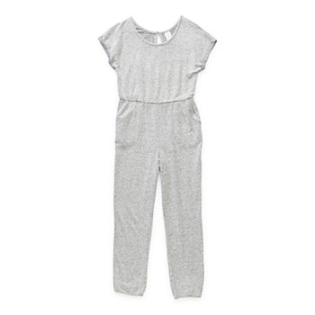 Arizona Little & Big Girls Short Sleeve Jumpsuit