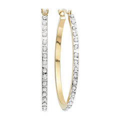 Diamond Fascination™ 14K Yellow Gold Diamond Accent Round Hoop Earrings