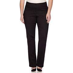 Heart & Soul® Double Waist Pinstripe Pants - Juniors Plus Long