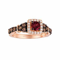 Grand Sample Sale™ by Le Vian® Raspberry Rhodolite® & 5/8 CT. T.W. Vanilla Diamonds® and Chocolate Diamonds® in 14K Strawberry Gold® Ring