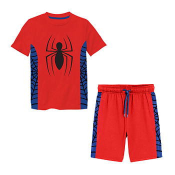 Disney Little & Big Boys 2-pc. Spiderman Short Set