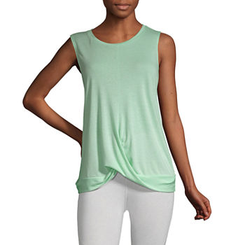 Xersion Womens Crew Neck Sleeveless Tank Top