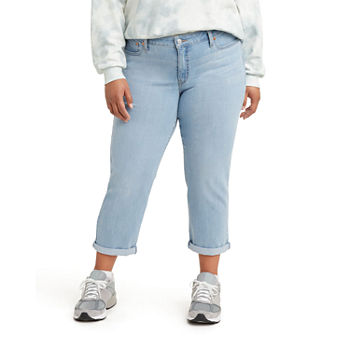 Levi's - Plus Womens Mid Rise Classic Fit Stretch Boyfriend Jean