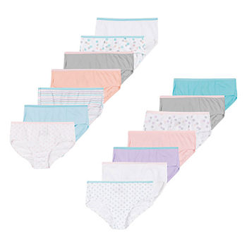 Hanes Ultimate Little & Big Girls 14-Pack Brief Panty