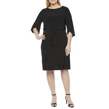 MSK-Plus 3/4 Sleeve Shift Dress