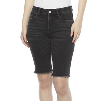 "Arizona Womens Mid Rise 11"" Bermuda Short-Juniors"