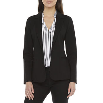 Worthington Womens Regular Fit Ponte Blazer
