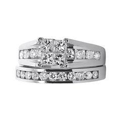 LIMITED QUANTITIES 1½ CT. T.W. Diamond 14K White Gold Bridal Ring Set