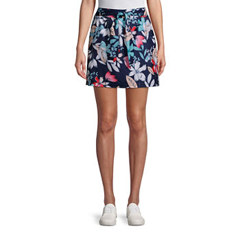 St. John's Bay Womens Mid Rise Adjustable Waist Skort
