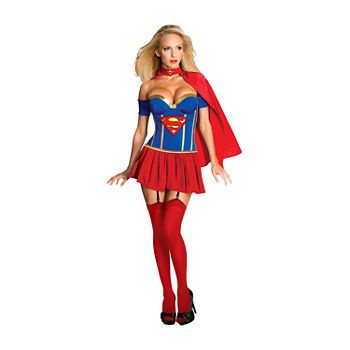 Supergirl Corset Adult 4-pc. Dress Up Costume
