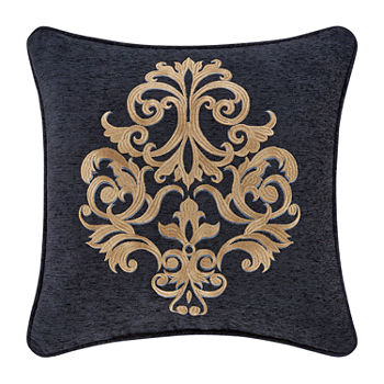 Queen Street Lawrence 18x18 Embellished Square Throw Pillow