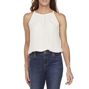 Worthington Womens Halter Neck Sleeveless Tank Top