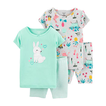 Carter's Baby Girls 4-pc. Shorts Pajama Set
