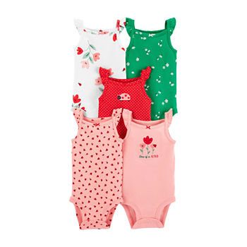 Carter's Little Baby Basic Baby Girls 5-pc. Bodysuit