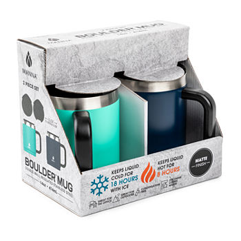 Manna Boulder 14oz Set of 2 Insulated Travel Mugs