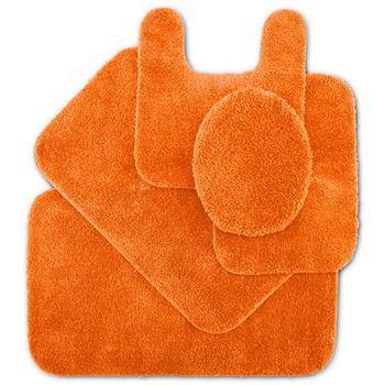 Bright Orange Bathroom Rugs Design Ideas