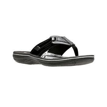 fd1881c54448 Clarks Black Women s Sandals   Flip Flops for Shoes - JCPenney