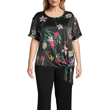 48bd7cae979b5 Worthington Black Tops for Women - JCPenney