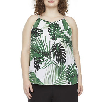 Worthington Plus Womens Sweetheart Neck Sleeveless Tank Top