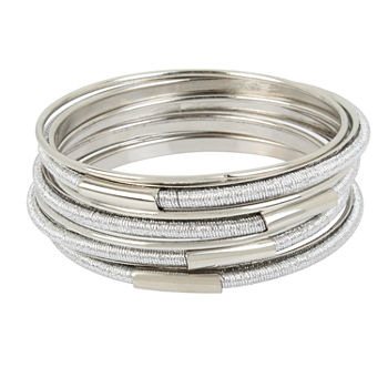 Nicole By Nicole Miller Silver Tone Bangle Bracelet