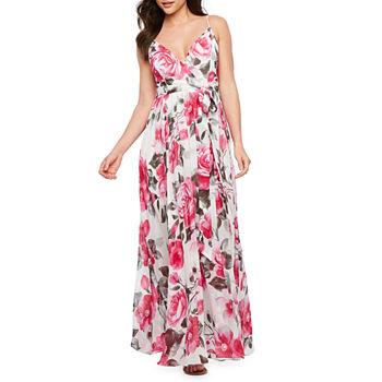 5e16438c48d5 Ronni Nicole Short Sleeve Floral Maxi Dress. Add To Cart. New. Offwht  Fuschia Gry