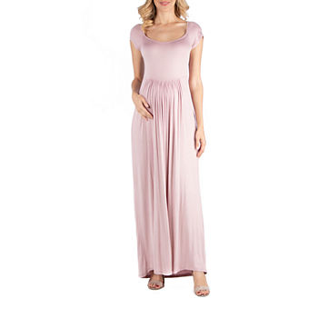 24/7 Comfort Apparel Round Neck and Empire Waist Maxi Dress